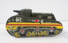Marx wind-up WWII Army tank