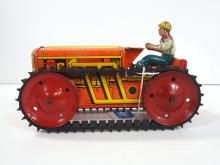 Marx wind-up tractor with driver