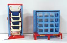 (2) Toy garages