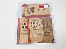 6 John Deere Pocket Ledgers