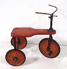 Wooden American Child's Tricycle