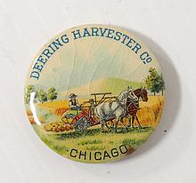 Deering Harvester Co. Pinback