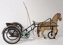 Early Child's Pedal Horse & Cart