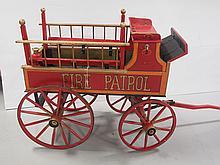 Child's Fire Patrol Wagon