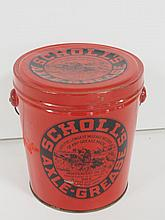 Scholl's Axle Grease Pail