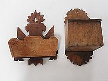 2 Wooden Wall Pockets