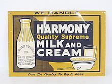Harmony Milk & Cream Sign