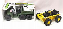 NIB 1/8 scale Scale Models John Deere 6x4 Gator & pressed steel Nylint Twister ATV - Gator box & toy near mint, ATV very good with light play wear