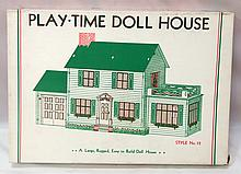 NOS Built Rite No.12 Play-Time Doll House - box very good with minor tears, contents near mint