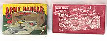 Built-Rite #7 Army Hangar & #14 Army Trench sets - both boxes & contents great!