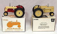 NIB Ertl Cockshutt 570 Super & NIB Ertl Blackhawk 50 - both near mint