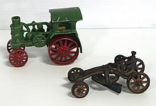 Cast aluminum Avery Steam Tractor & cast iron Arcade Road Grader