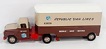 Tonka Toys Custom Republic Van Lines semi - near mint