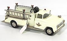 White Tonka Fire Engine - very good with hoses & hydrant missing