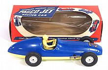 NIB wind-up PAGCO Jet Racing Car - near mint, works!