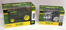 (2) NIB John Deere tractors - 175th Yr Anniversary Model 60 & Model 6140 D, both near mint