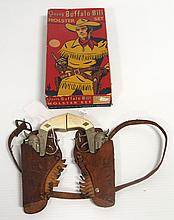1954 Leslie Henry Young Buffalo Bill holster set with original box - great condition