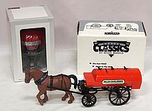 NIB Allis Chalmers Oil Tank with horses & NIB Spec Cast Case IH Magnum Hot Air Balloon Bank - both near mint
