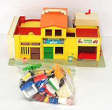 1973 Fisher Price Family Village Set with accessories - very good