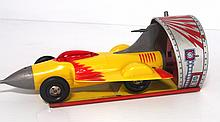 Tin litho Ideal Jet Car wind-up toy - works