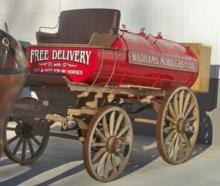 Restored Horse-Drawn Fuel Oil Tanker