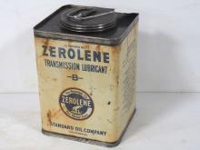 Zerolene Motor Oil Tin