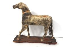 Wooden Child's Pull Horse Toy, Circa 1870