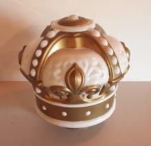 Gold Crown glass oil globe