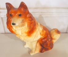 Chalkware collie dog bank
