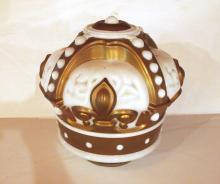 Glass Gold Crown globe