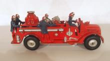 Arcade cast iron fire truck with Arcade label