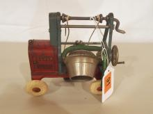 Hubley Jaeger cast iron cement mixer toy