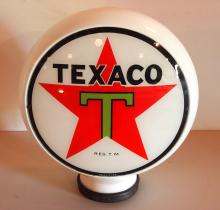 Texaco glass globe