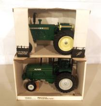 (2) Scale Model toy tractors
