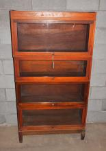Barrister bookcase with 4 shelves