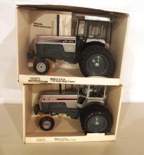 (2) Scale Model White toy tractors: 195 / 185