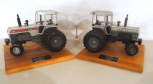 (2) Scale Model White 2-155 toy tractors