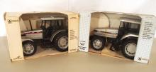 (2) Scale Model White toy tractors: 6105 / 6195