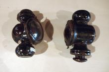 Pair of Model T kerosene head lights