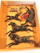 (5) Cast iron horses