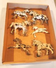 (6) Cast iron horses