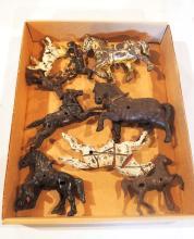 (9) Cast iron horses