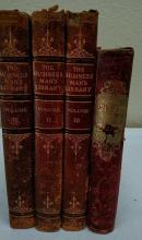 Leather bound books, 3 Business Mans Library 1 Memory Gift book