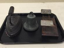 Vintage Iron, Bell, and Scale