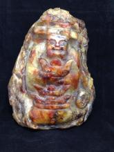 Carved Chinese statue jade and agate