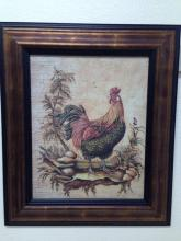 Nicely framed rooster print