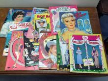 12 1950's Movie Star, paper doll books