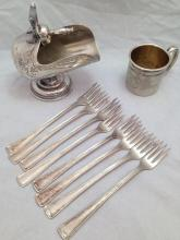 12 pieces of sterling plate