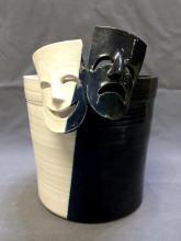 Mid century modern American art pottery vessel