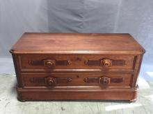 American Civil War era walnut low chest, circa 1860